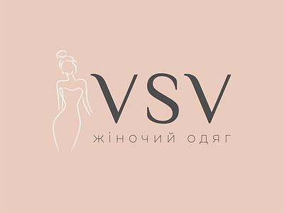 VSV logotypedesign branding vector minimal design brending brend graphic design woman clothes woman logodesign logo design logotype logo