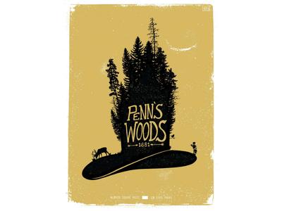 Penn's Woods hat william penn state park philadelphia gold screen print