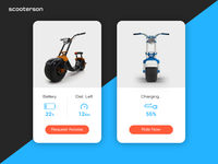 Scooter App Concept  - Daily UI 09