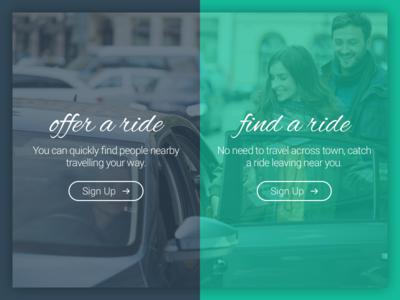 Sign Up - Ride Sharing