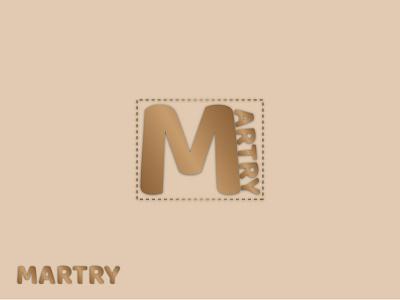 Martry Logo |  Branding flat icon minimal logo design branding
