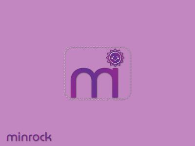 Minrock Logo flat icon minimal logo design branding