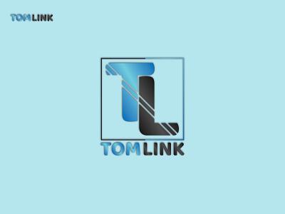 Tom Link Logo flat icon minimal logo design branding