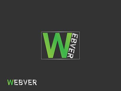 Webver Logo | Branding flat icon minimal logo design branding