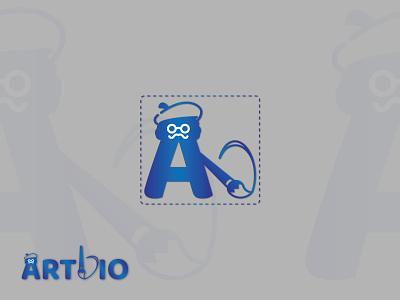 Artdio Logo | Branding flat icon minimal logo design branding
