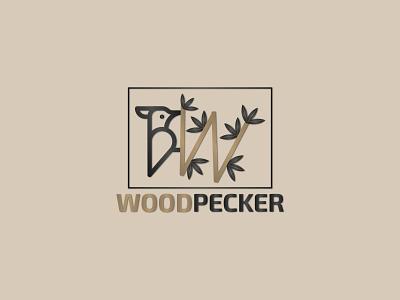 Woodpeacker Logo | Branding vector flat icon minimal logo design branding
