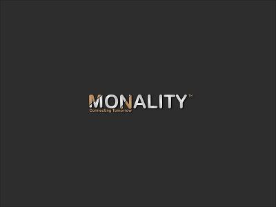 Monality Logo flat minimal logo design branding