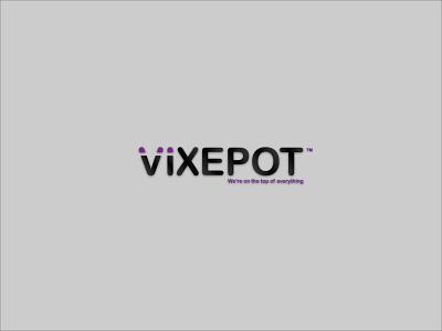 Vixepot Logo|Branding flat minimal logo design branding