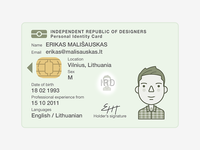 Identity card illustration