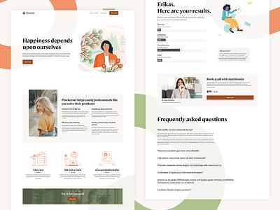 Pinekernel website beige pinecone pine nutrition landingpage landing webdesig website web