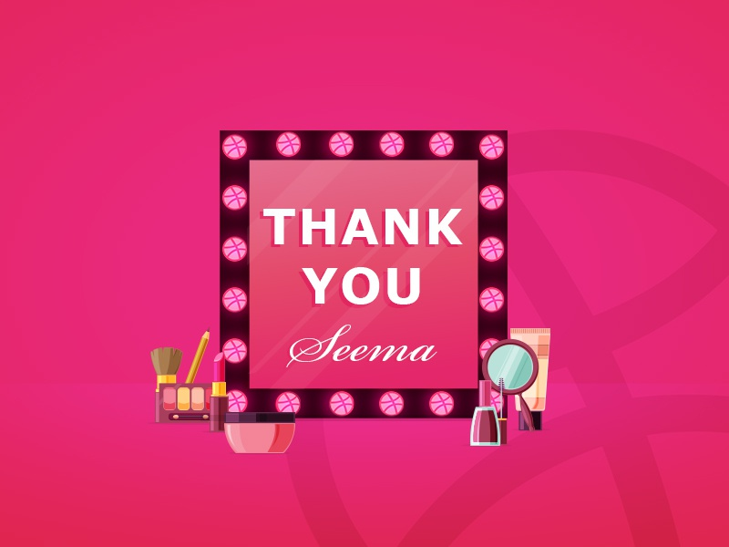 Thank you Seema by meenakshi Goyal on Dribbble