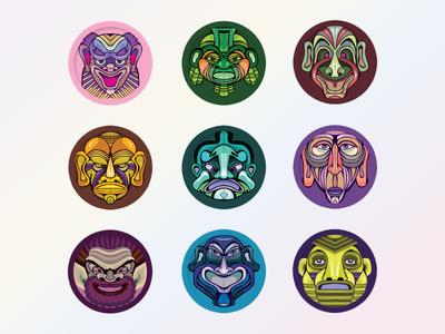 Mask Avatar Design Free