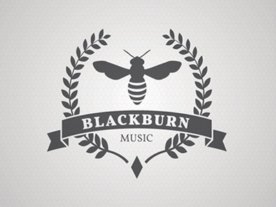 Blackburn Music Logo logo bee music