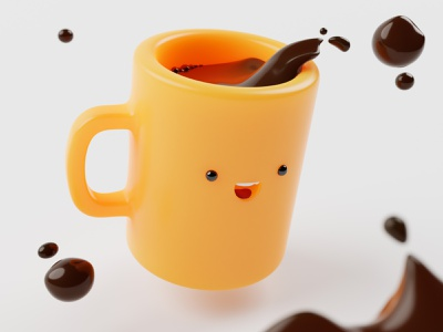 Coffee time! coffee mug 3d blender3d 3d illustration