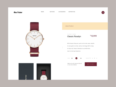 Ui ux design for watch