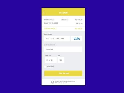 Creditcard Checkout Ui