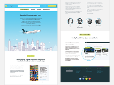 About Page website page growingpie layout vector city plane illustration ui ux about