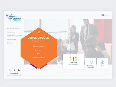 Career Site marketing homepage offers students graduates website ui ux job board
