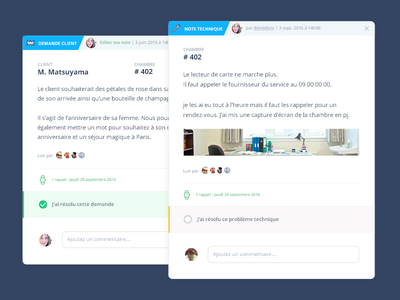 Note Preview comment management dashboard cards ui ux clean app