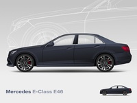Mercedes E46 vector art e-class mercedes-benz illustraion vector car vehicle e46 mercedes