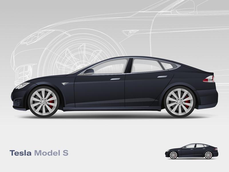 Tesla Model S supercharger electric car electric tesla model s model s tesla illustraion vector vehicle car