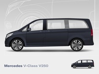 Mercedes V250 mercedes v v250 mercedes-benz v class vector illustration car mercedes vehicle van