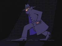Spy stealth coat hat secret agent detective spy lowlights spying character design illustration