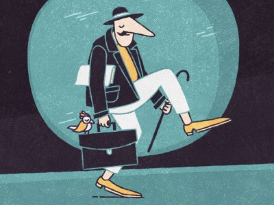 Silly walk character bird silly silly walk doodle cartoon character