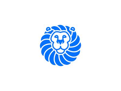 Lion Logo symbol lion negative space logo design identity brandmark logo mark trademark