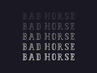 Bad Horse typeface