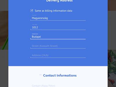 E-commerce registration form sign up e-commerce webshop overlay