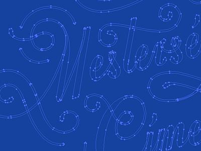 vector dots mestersegem logotype custom cimere calligraphy type typography logo lettering