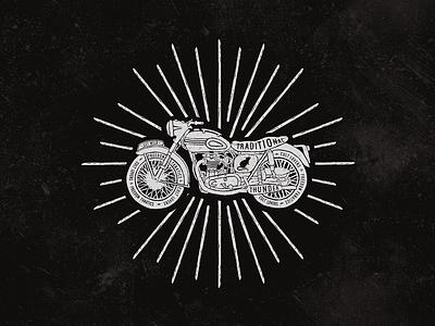 vintage bike vintage rust rat moto lettering illustration helmet drawn hand grunge bike artwork