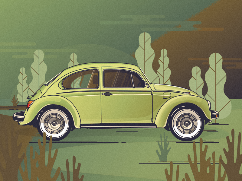VW Beetle affinity designer käfer volkswagen car vector art illustration
