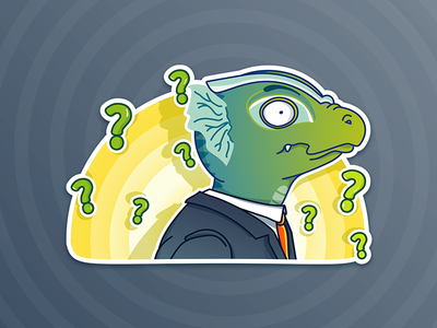 Whaaat? - Lizardman sticker pack