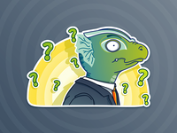 Whaaat? - Lizardman sticker pack