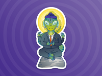 Shiva - Lizardman sticker pack