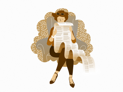 Long Stories story reading illustration woman