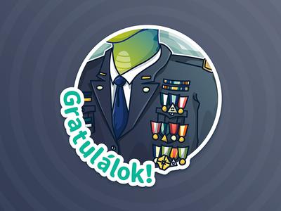 Reptilian stickers / Congratulations!