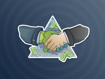 Reptilian stickers - deal
