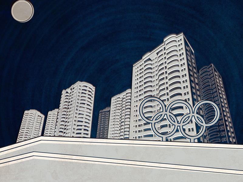 Olympics village longform illustration rio