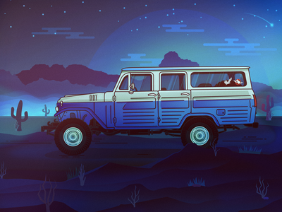 Toyota FJ45 LV vector art toyota illustration car affinity designer