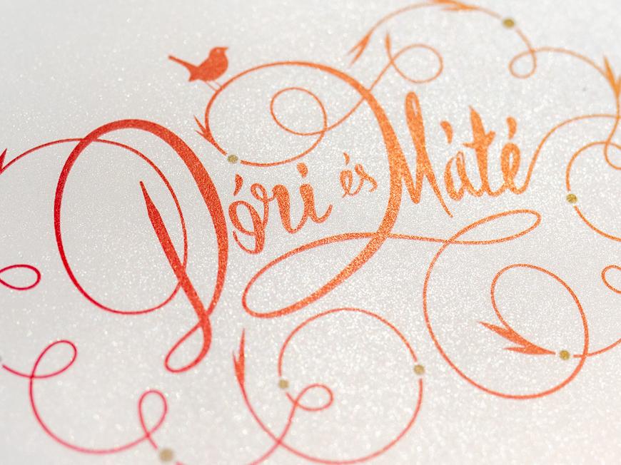 Dodo & Máté lettering typogaphy calligraphy wedding invite