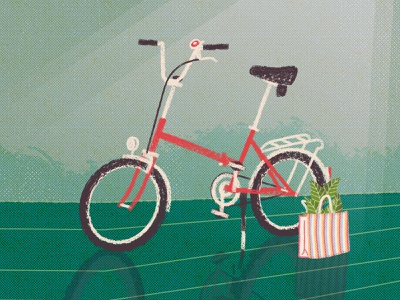 City bike csepel camping plants bicycle illustration