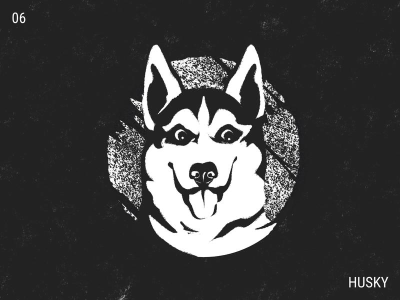 Inktober / 06 - Husky doggie doggo inktober inktober2019 husky illustration