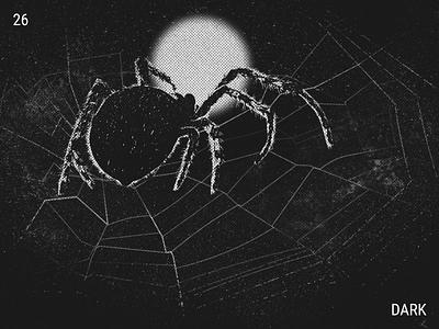 Inktober / 26 - Dark inktober inktober2019 night dark spider fullmoon illustration