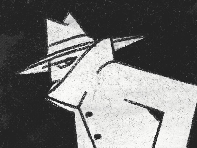 Inktober / 27 - Coat coat detective inktober inktober2019 secret agent spy