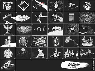 Inktober Illustrations 2019 dailyart monochrome inktober2019 inktober everydaydesign everyday art illustration
