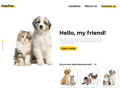 PairPat - Desktop Landing Page web design ux ui