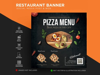 Restaurant Flyer menu lunch kitchen gourmet gastronomy food flyer fast food dinner cuisine cooking cook cold coffee classic chef card business burger blue